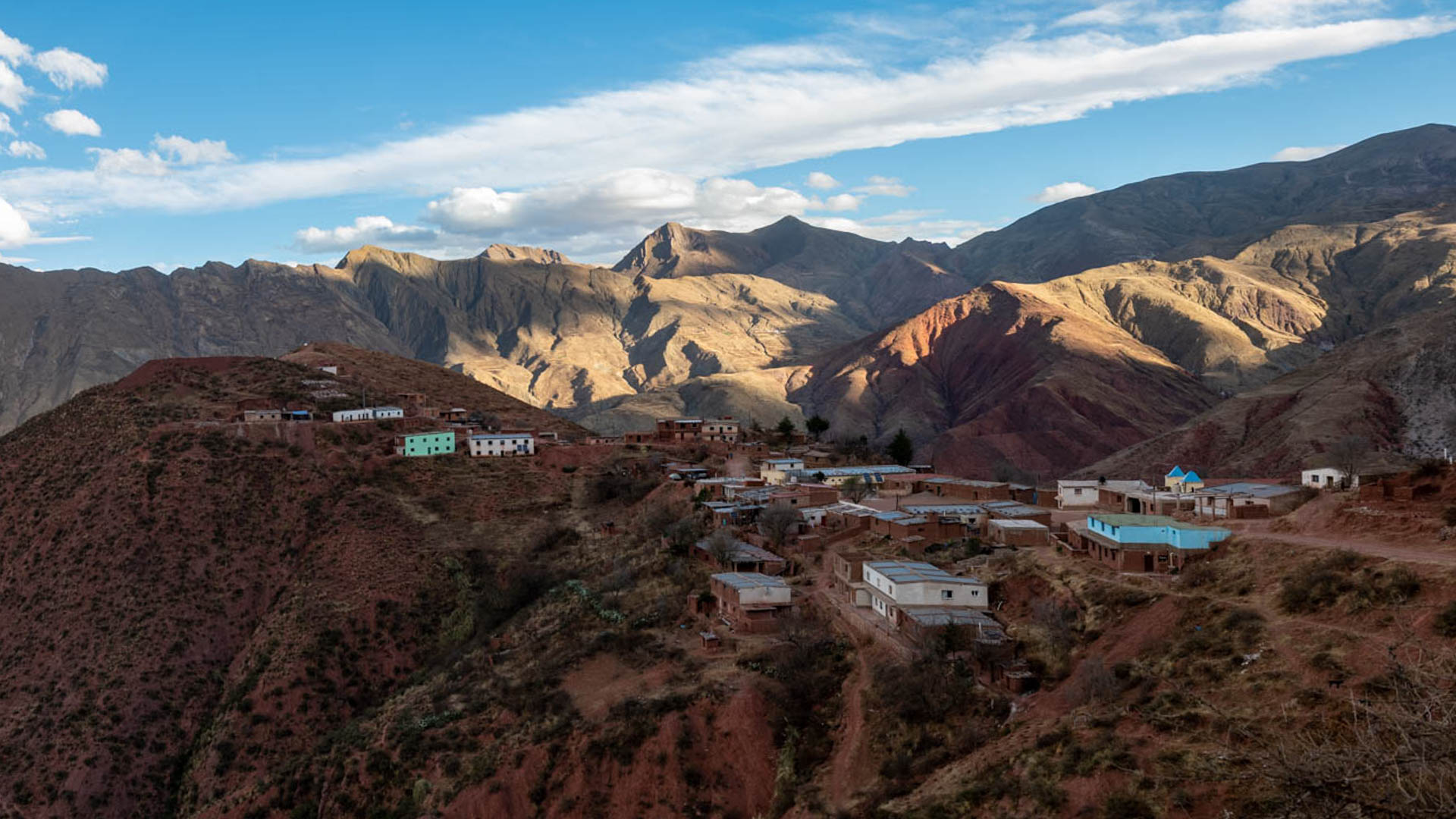 Panorama de Rodeo Colorado, pequeña localidad del departamento Iruya.